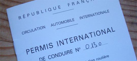 permis conduire international